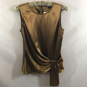 St. John Sleeveless Satin blouse NEW!